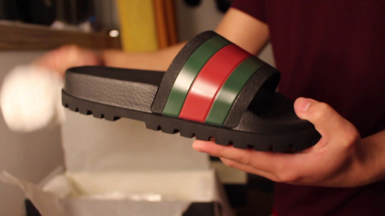 bd9873e08 The New Gucci Slides: Flip flops 2018 Unboxing !!!! - YouTube