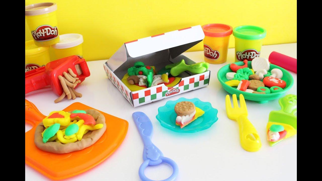 3227ecbe9f Play-Doh Festa da Pizza Brinquedo de Massinha Pizza Party Playset ...