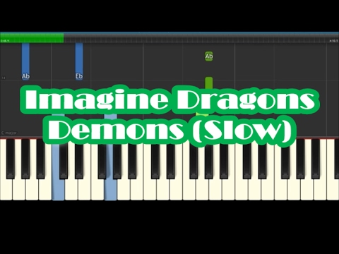 Imagine Dragons Demons Slow Easy Piano Tutorial Youtube
