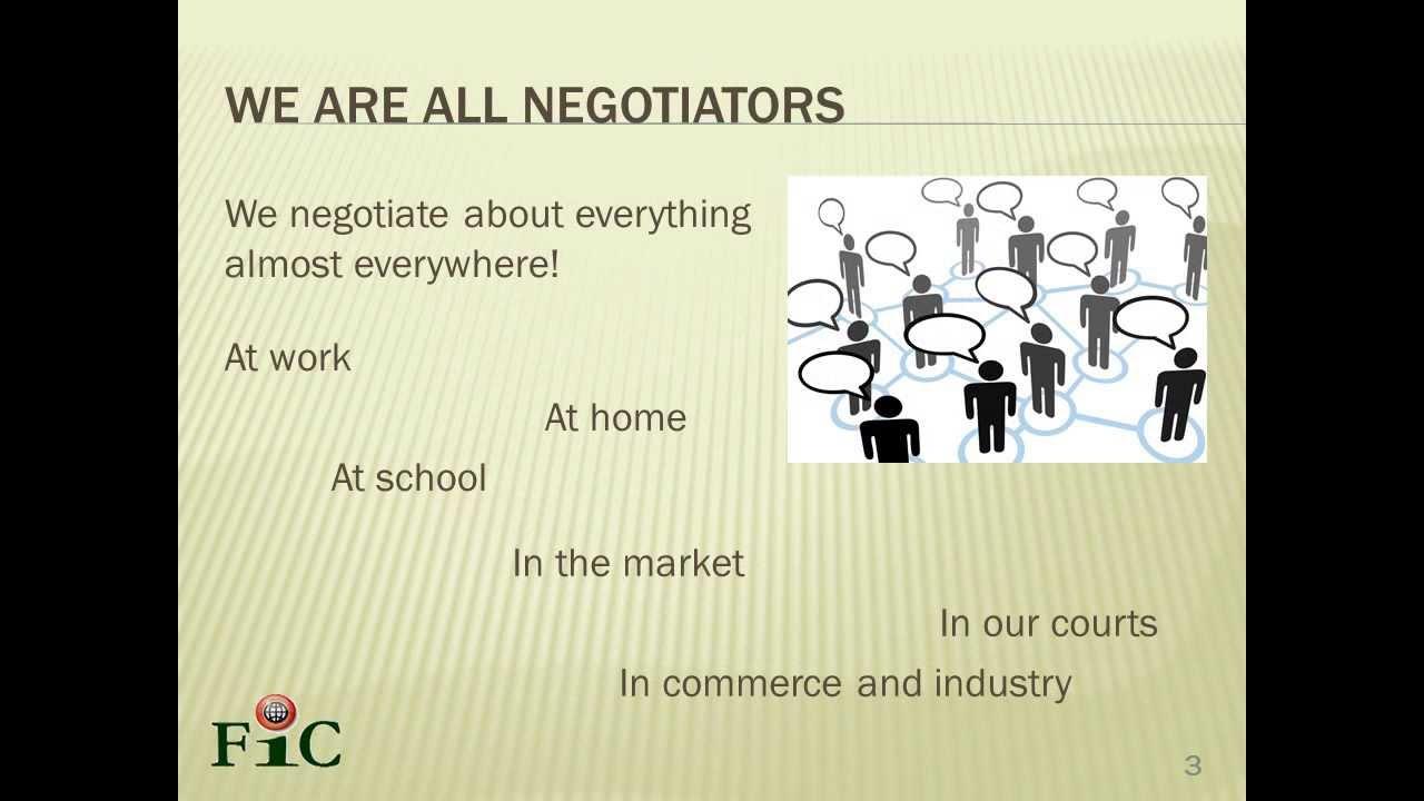 Principled Negotiation Skills Part 1