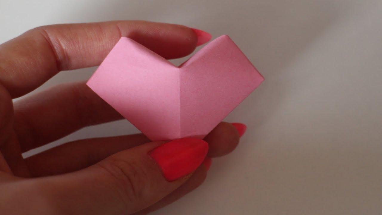 Basteln Mit Papier: '3D Herz' Für Muttertag, Valentinstag