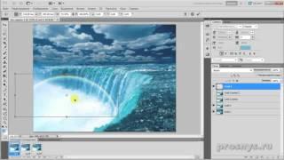 Анимация воды в фотошопе  Водопад