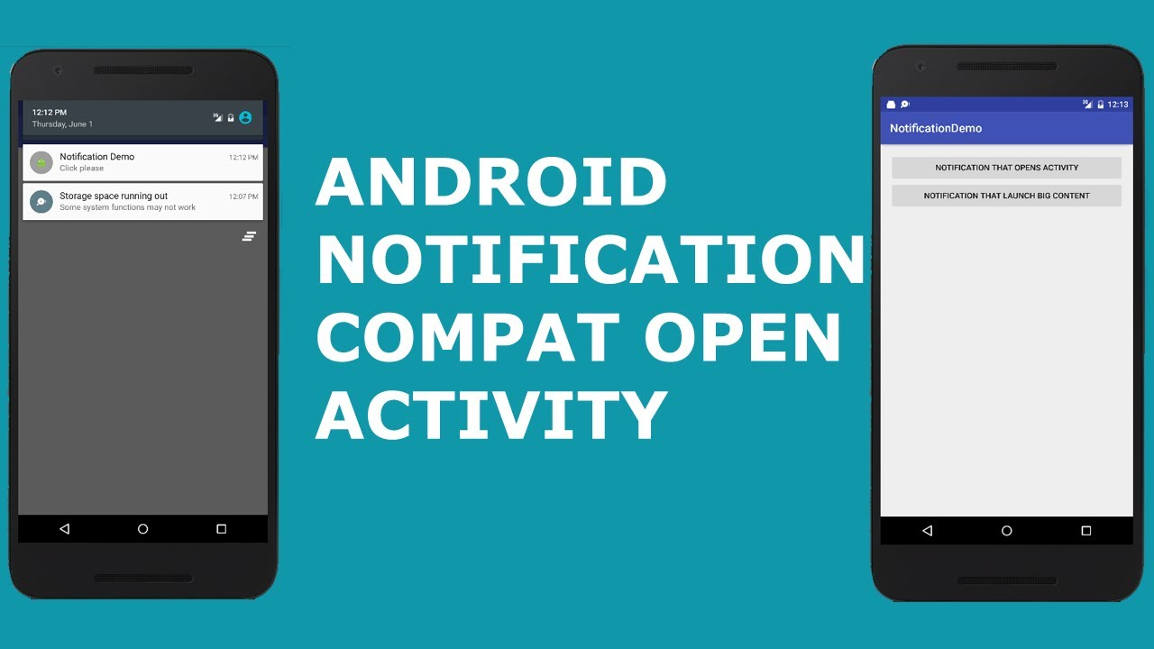 ANDROID NOTIFICATION COMPAT OPEN ACTIVITY