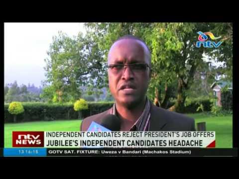 Independent candidates reject President Kenyatta's job offers