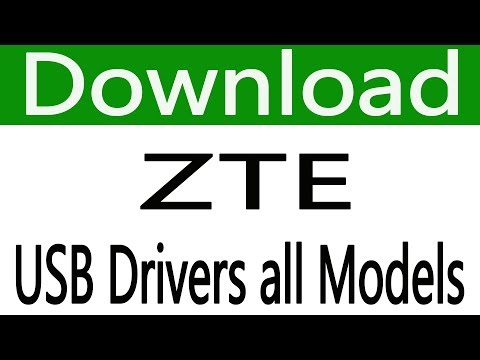 How To Free Download ZTE USB Drivers all models - YouTube