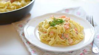Паста с креветками + сливочный соус (вкусно и просто)