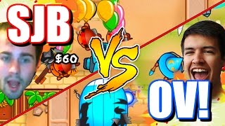 Bloons TD Battles - THE BIGGEST YOUTUBER BATTLE EVER! - SuperJomBombo2 VS MasterOv! Part 1