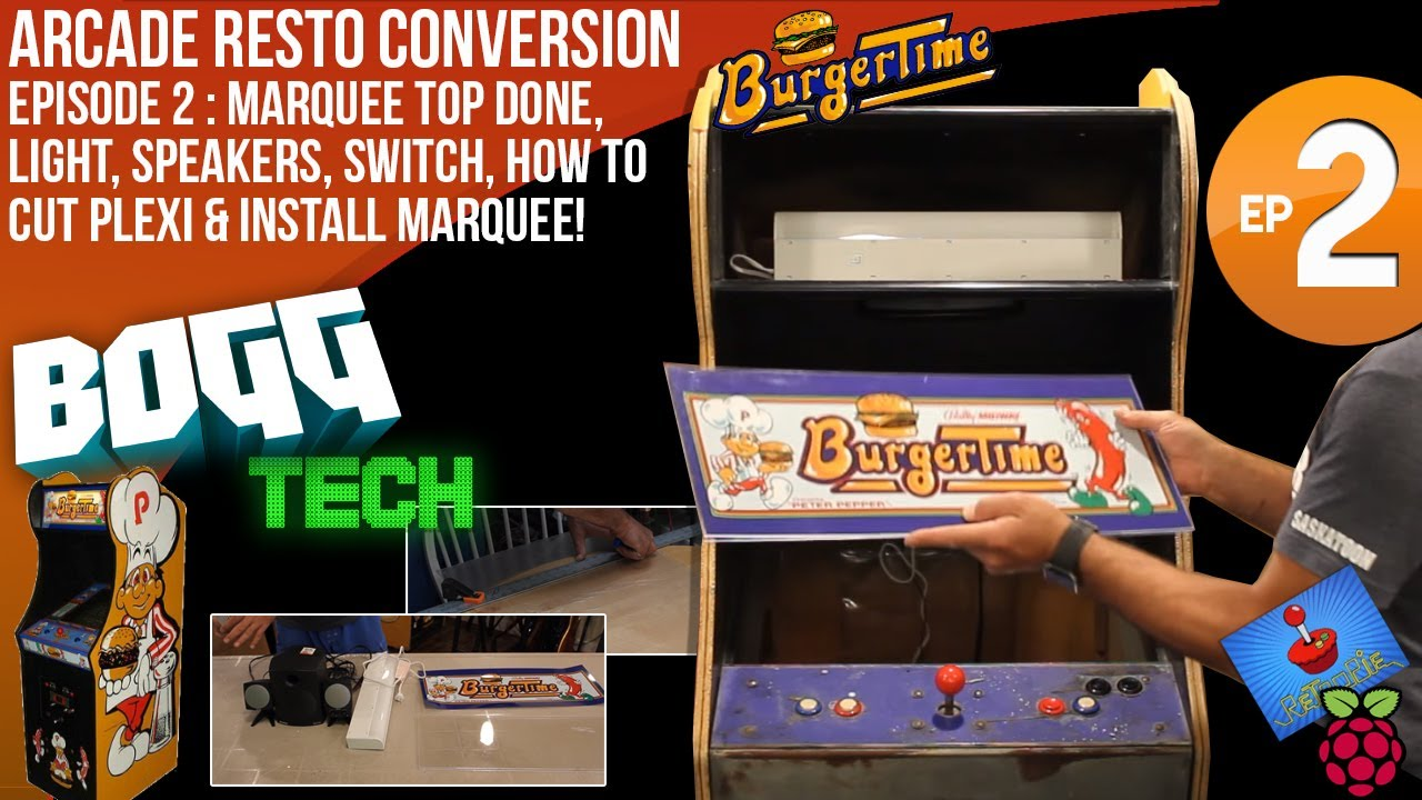 Bogg Tech Burgertime Arcade Cabinet Restoration And Retropie