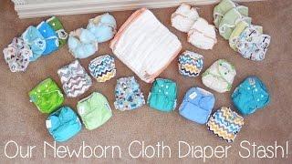 Our Newborn Cloth Diaper Stash!