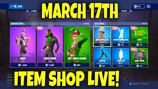 *NEW* FORTNITE ITEM SHOP COUNTDOWN! March 17th New Skins LIVE (Fortnite Battle Royale Gameplay)