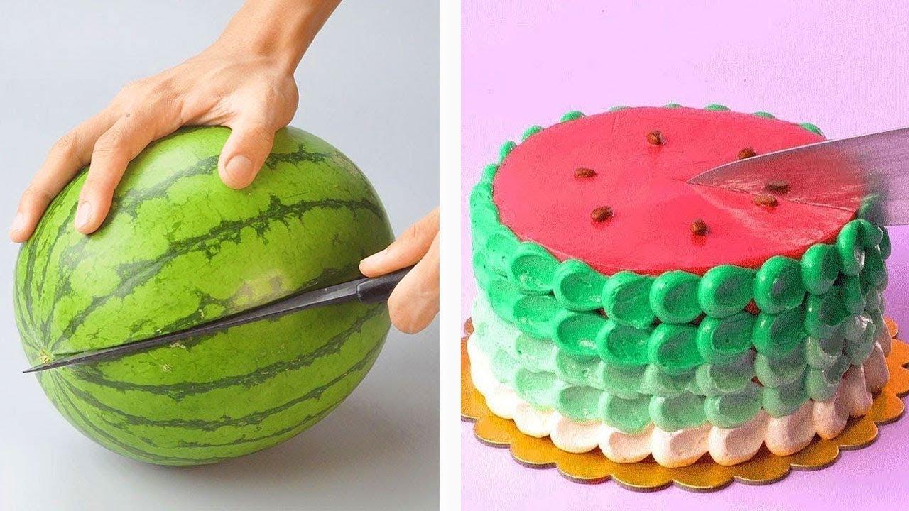 10 Amazing Watermelon LifeHacks!!  Top Delicious Cake Recipes 🍪 Best Cake Decorating Compilation