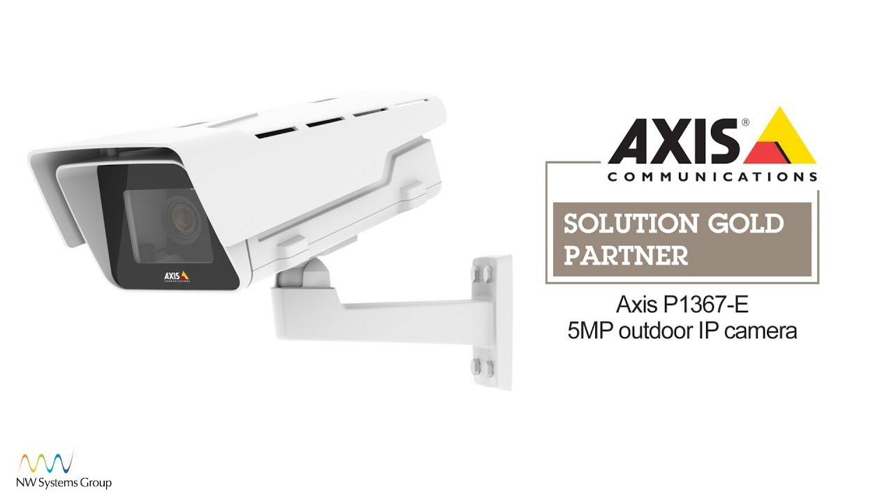 Axis P1367-E outdoor IP camera with 5MP resolution