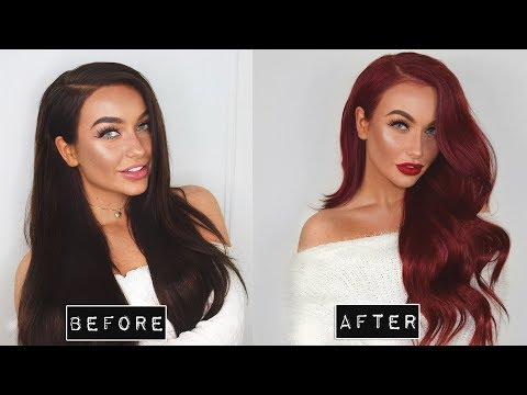 HOW TO: Go from DARK BROWN to RED at home (in 1 Day)