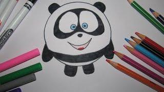 Смешарики Панда Рисуем очень легко мультяшную панду  Учимся Рисовать Рисовать просто Draw a panda(Смешарики Панда !!! Рисуем очень легко мультяшную панду))) Рисовать просто!!! Draw a panda !!!!, 2016-02-01T21:10:38.000Z)