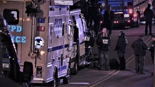 NYPD Cop Shot & Machete-Wielding Perp Dead (12.10.18)