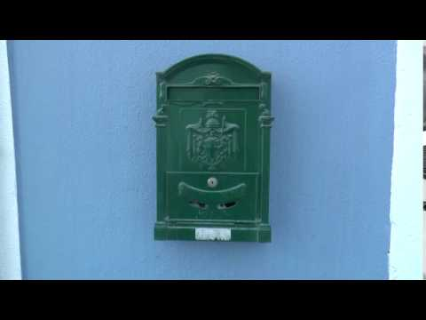 Portuguese, post box, in Lisbon