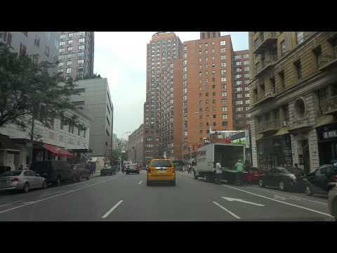 Driving on 4th ave in Manhattan,New York City
