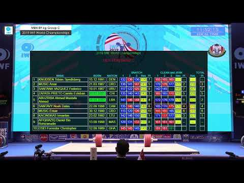 2019 IWF World Championships Day 6 MEN 89 Kg Group C