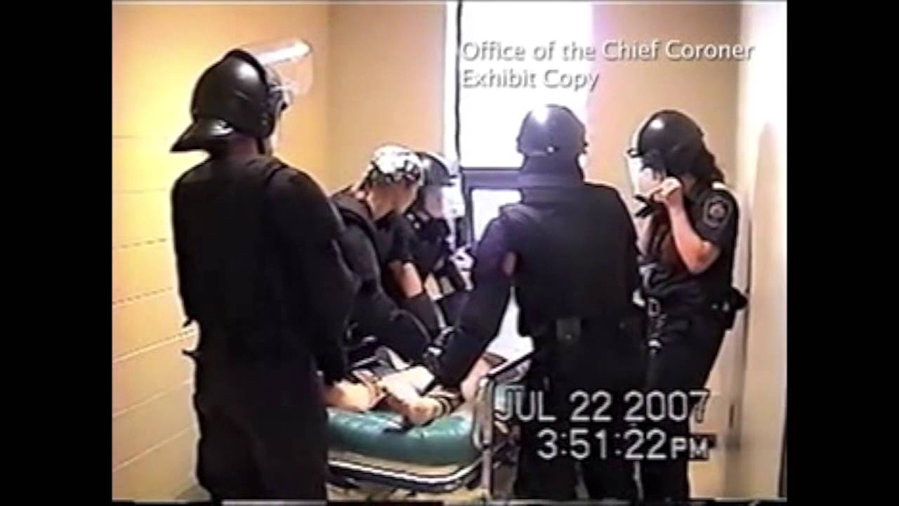 Restraint chair hospital in the restraint chair and - Ashley Smith Restrained By Correctional Officers And Nurses At Joliette Institution Youtube