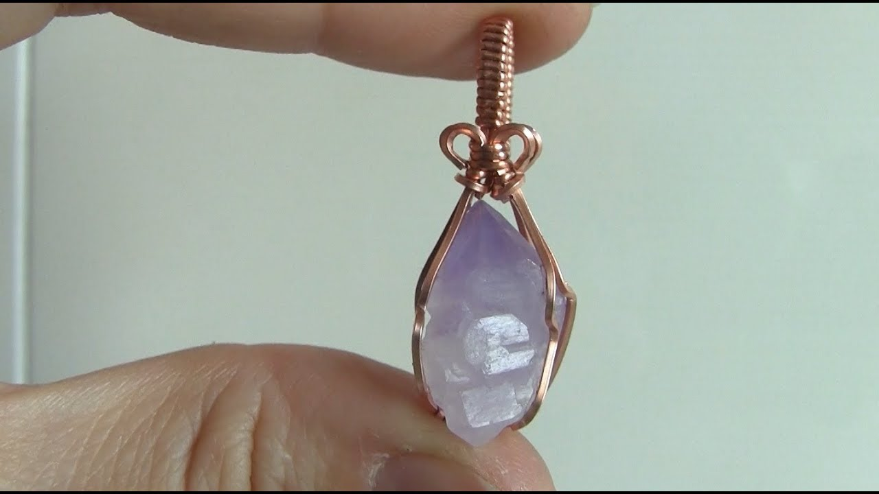 Rough Crystal Point Wire Wrapped Pendant Tutorial - YouTube