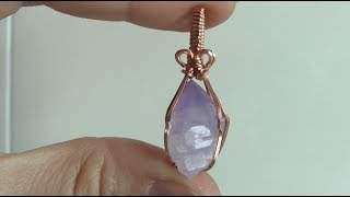 Rough Crystal Point Wire Wrapped Pendant Tutorial Beginner