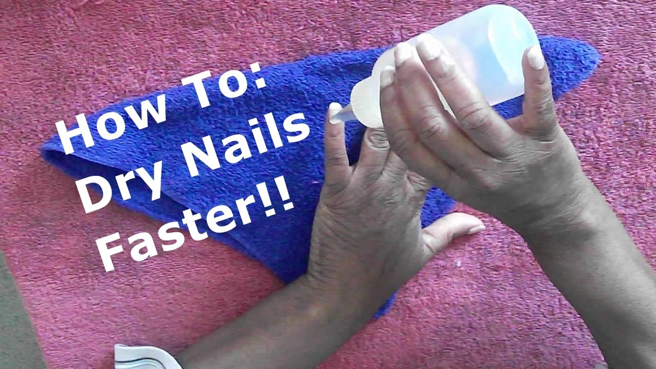 QUICK TIP: HOW TO DRY YOUR NAILS FASTER!! - YouTube