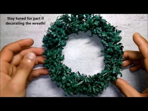 Let's make an awesome small DIY (Do it yourself) Christmas Wreath with recycled papers PART 1