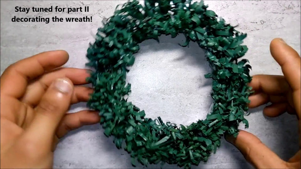 lets make an awesome small diy do it yourself christmas wreath with recycled papers part 1 - Small Christmas Wreaths