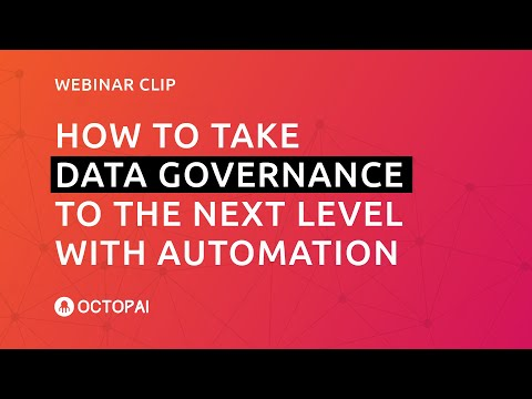 How to Take Data Governance to the Next Level with Automation