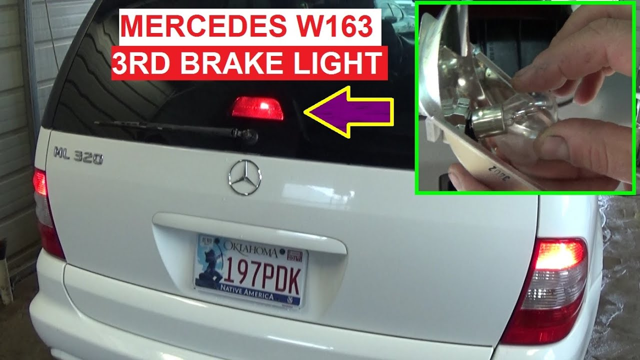 maxresdefault mercedes w163 ml third brake light stop light bulb replacement W163 Parts at edmiracle.co