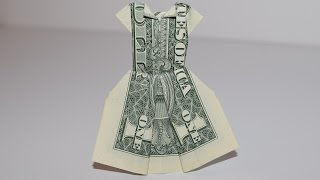 Dollar Origami: Dress | 1Dollar | Easy tutorials and how to's for everyone #Urbanskills