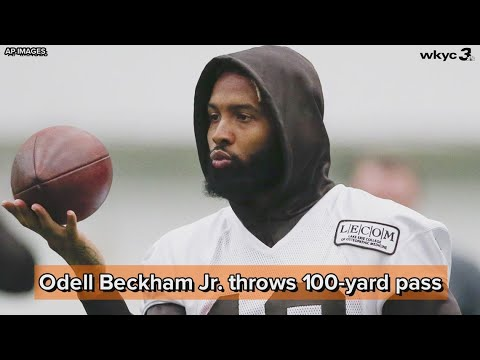 Odell Beckham Jr. throws 100-yard pass, challenges Aaron Rodgers and Patrick Mahomes to throw off