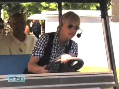 Ellen Hijacks a Warner Bros. Studio Tour Tram