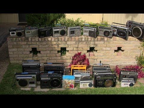 All my mono boombox cassette radio players review Centrex GE Pioneer Panasonic Sanyo Sony