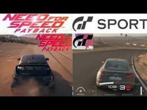 Need For Speed Payback Vs Gran Turismo Sport Graphics Cars Road To 5650 Sub Youtube
