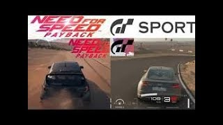 Need For Speed PayBack vs Gran Turismo Sport & Graphics & Cars