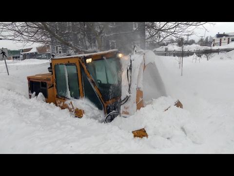 Sidewalk plow cleans up deep snow in Charlottetown