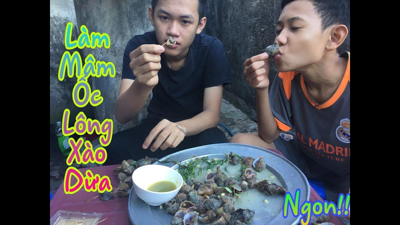 Thử Làm Món Ốc Lông Xào Dừa Cực Lạ Cực Ngon – Vlog 34