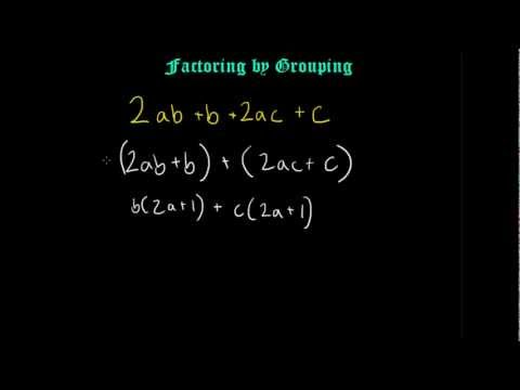 Factoring by Grouping Algebra (2)