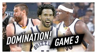 Mike Conley, Marc Gasol & Zach Randolph Game 3 Highlights vs Spurs 2017 Playoffs - 66 Pts, SICK!