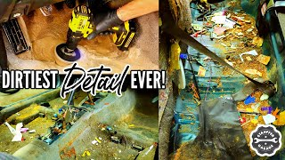 DEEP CLEANING The DIRTIEST Car Ever! Complete Disaster Full Interior Car Detailing Transformation!