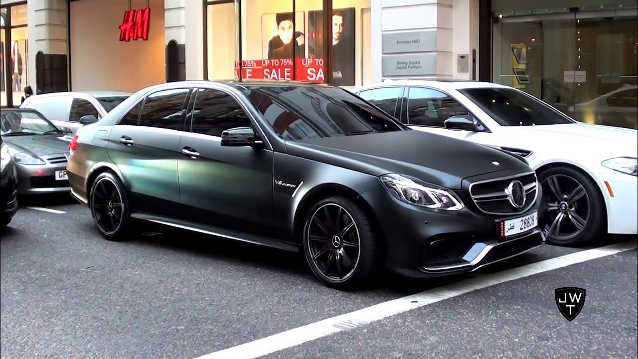 matte black 2013 mercedes benz e63 amg 39 s in london exhaust sounds youtube. Black Bedroom Furniture Sets. Home Design Ideas