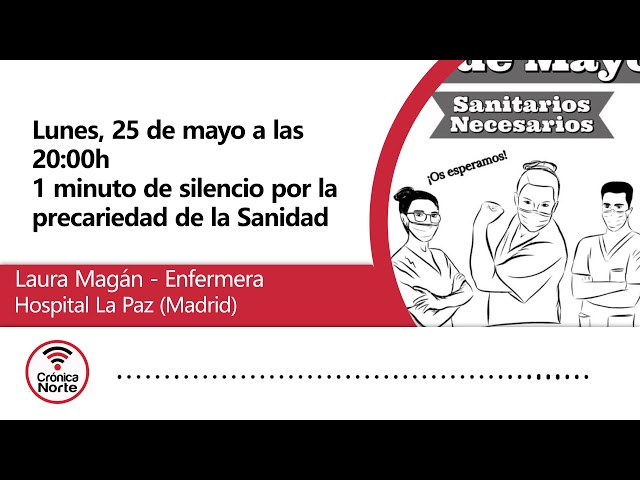Sanitarios de todo Madrid se concentran para guardar un minuto de silencio