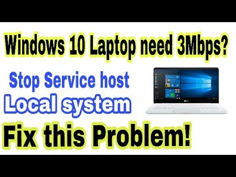 Fix Windows 10 Highspeed Internet Problem,How To Fix Service Host Local System In Windows 10 Laptop