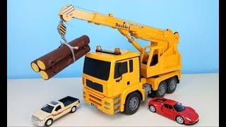 Boy's car toys;玩具吊车展示超强起重能力,工程车;汽车玩具视频