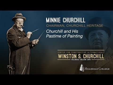 Churchill and His Pastime of Painting - Minnie Churchill