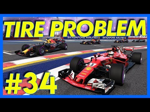 F1 2017 Career Mode : TIRE PROBLEMS!! (Part 34)