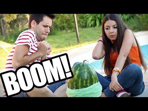 ESPLOSIONE ANGURIA!!! - Exploding Water Melon (ITA)