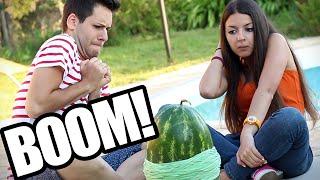 ESPLOSIONE ANGURIA!!! - Exploding Water Melon (ITA) | Me contro Te