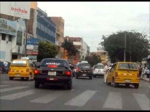 Traffic in Chiclayo, Peru